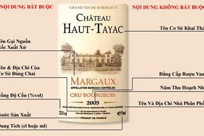 Cách đọc nhãn rượu vang của Bartender chuyên nghiệp