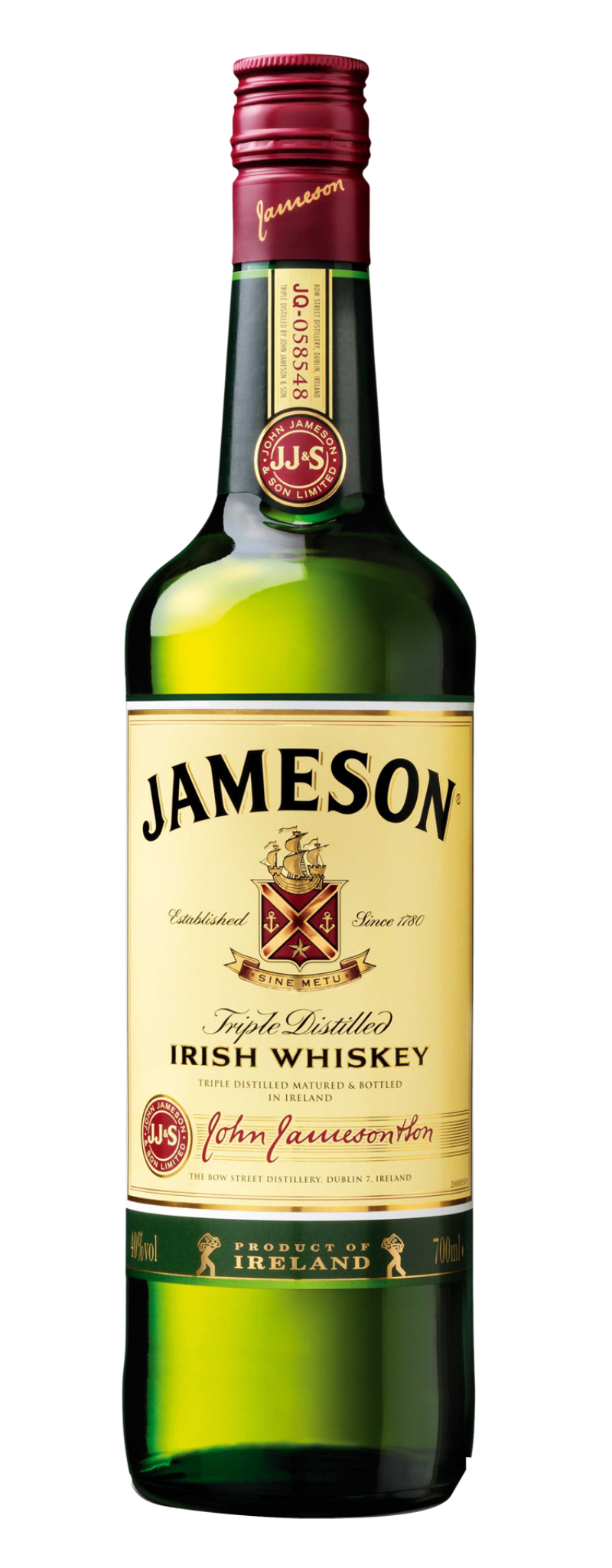 Jameson Irish Whisky without Gb  - 700ml
