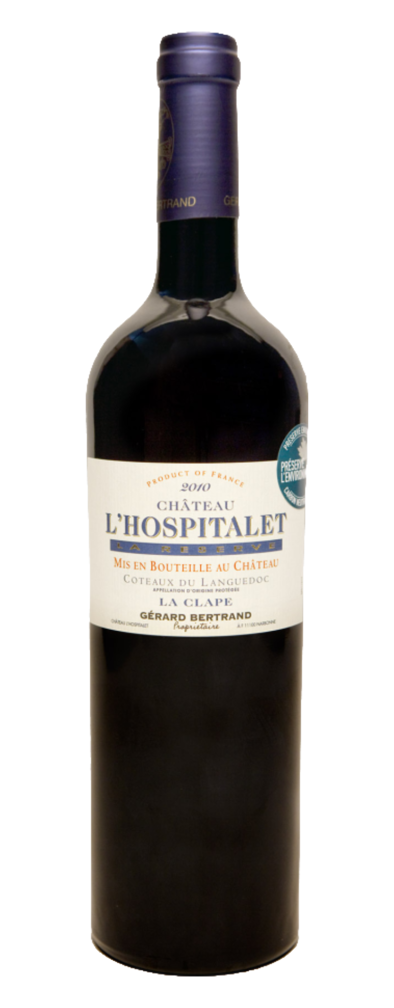 "Chateau L'Hospitalet ""Organic Wine"" - Syrah Blend  - 750ml"