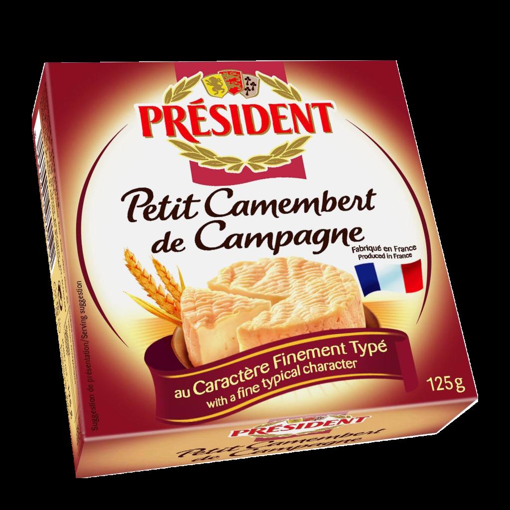 "President Small Camembert ""De Campagne"" In Metal Tin 125g"