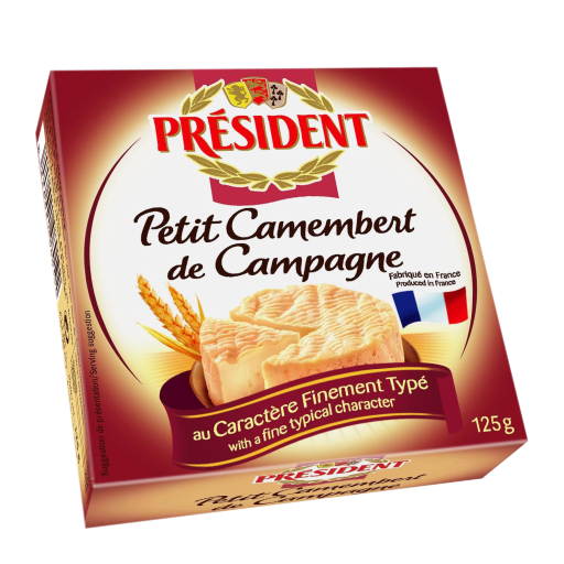 "President Small Camembert ""De Campagne"" In Metal Tin 125g"