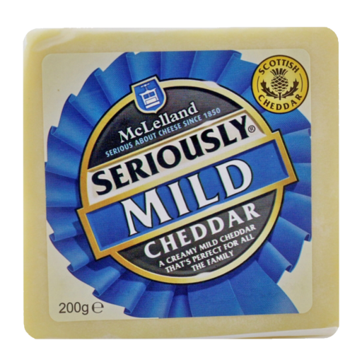 McLelland Mild White Cheddar Block 2.5kg
