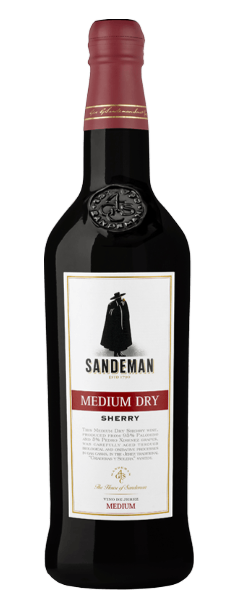 Sandeman Sherry Character Medium Dry Sherry  - 750ml