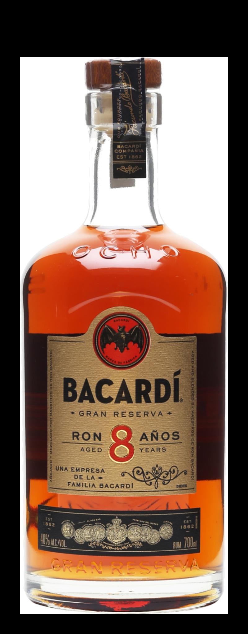 Bacardi Superior Carta Ocho 8 Rum  - 750ml