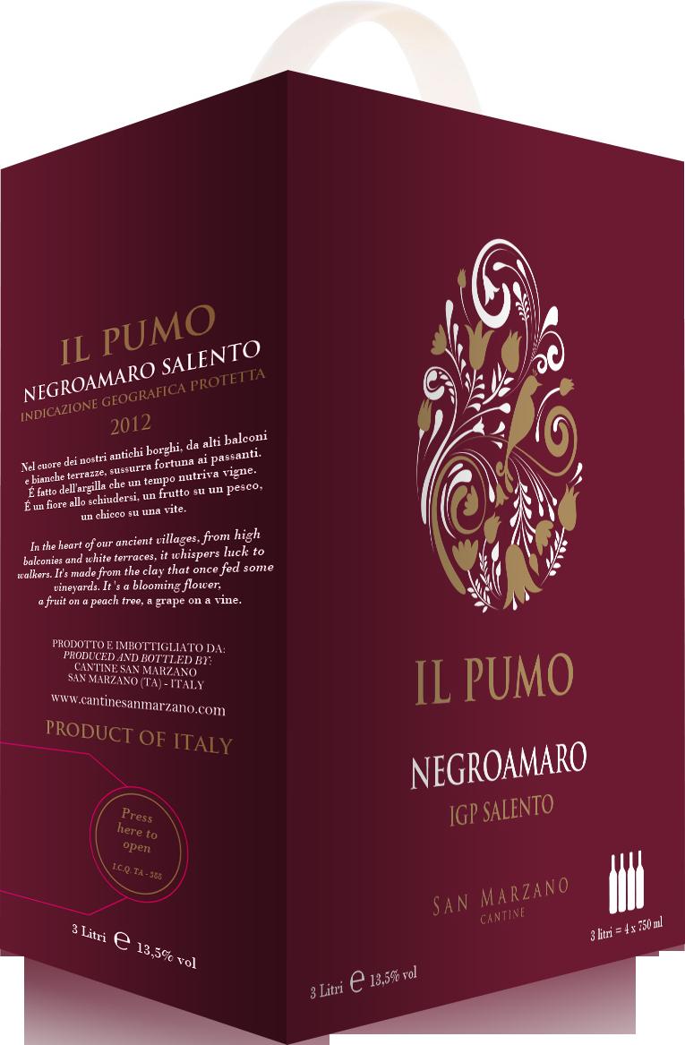 Il Pumo Negroamaro (Vang bịch Ý 3L)  - 3L