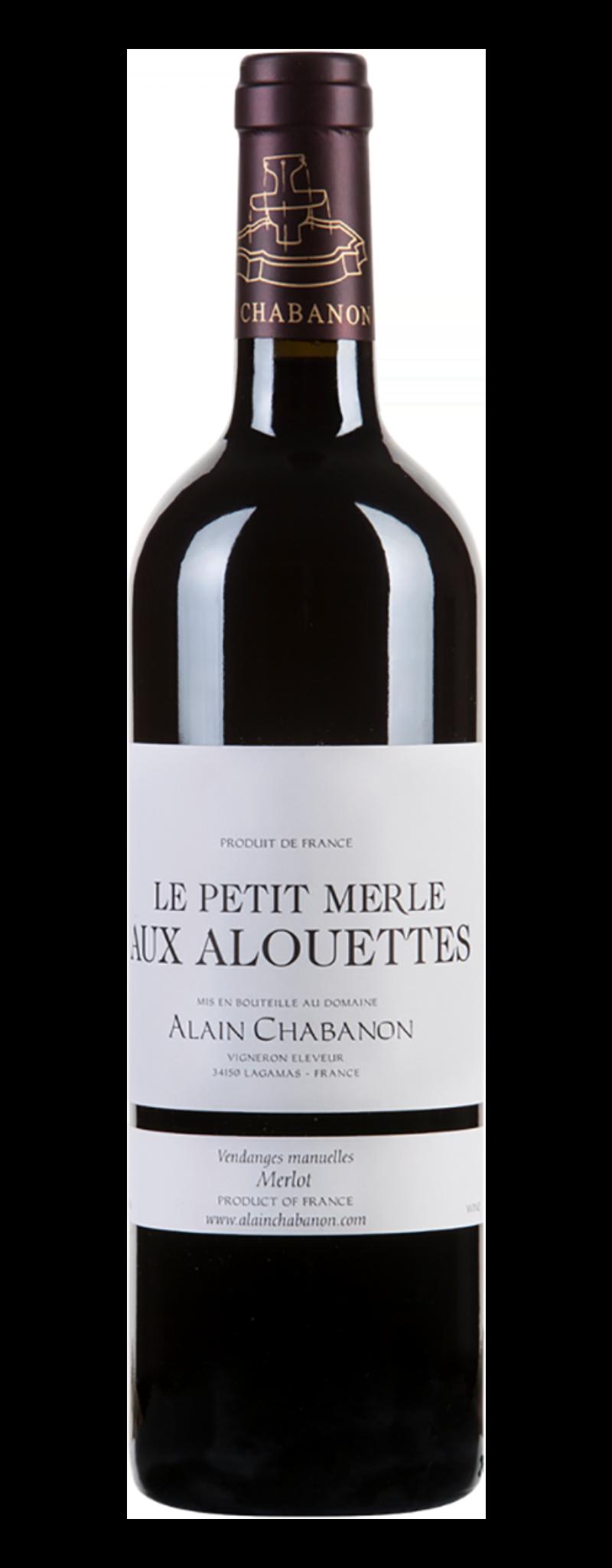 Alain Chabanon, Petit Merle Aux Alourettes, IGP d'Oc  - 750ml