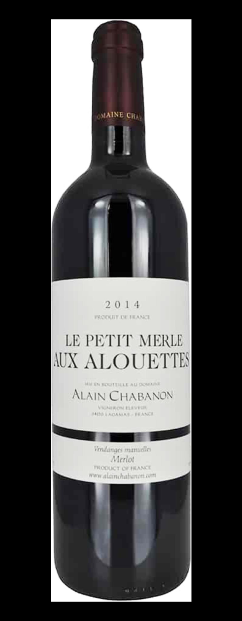 Alain Chabanon, Petit Merle Aux Alouettes, IGP d'Oc  - 750ml