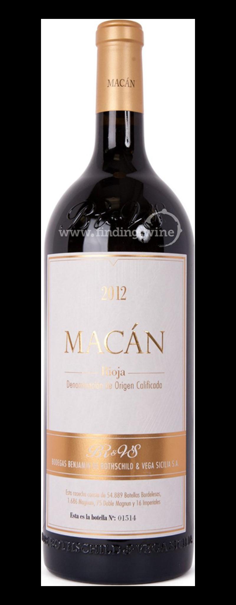 Bodegas Benjamin de Rothschild & Vega Sicilia, Macan, Rioja DOCa  - 750ml