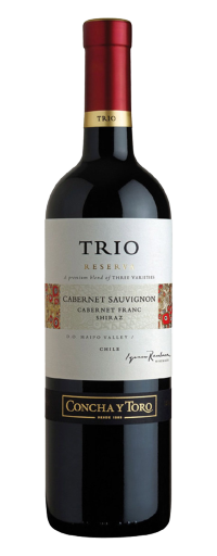 Concha Y Toro, Trio Reserva  Cabernet Sauvignon/Shiraz/Cabernet Franc, Maipo Valley  - 750ml
