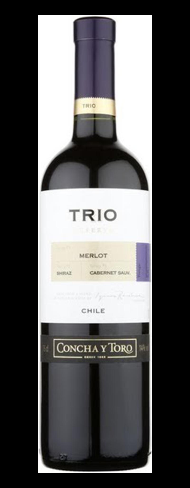 Concha Y Toro, Trio Reserva Merlot/Carmenere/Cabernet Sauvignon, Rapel Valley  - 750ml